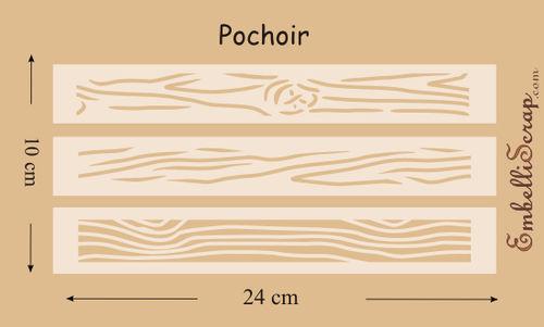 Fines planches de bois pochoir produit scrapbooking - Pochoir pour meuble en bois ...