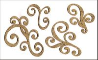 Embellissement Scrap Lot de Grandes Volutes, en Feutrine