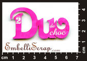Embellissement Scrap Mot Duo de Choc !