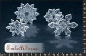 Embellissement Scrap Flocons de Neige de Catangel, en Transparence