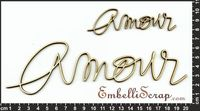 Embellissement Scrap Grand Mot Manuscrit