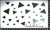 Embellissement Scrap Triangles Pleins, en Miroir