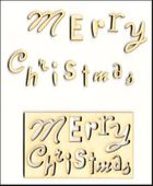 Embellissement Scrap Merry Christmas grand format en Carton